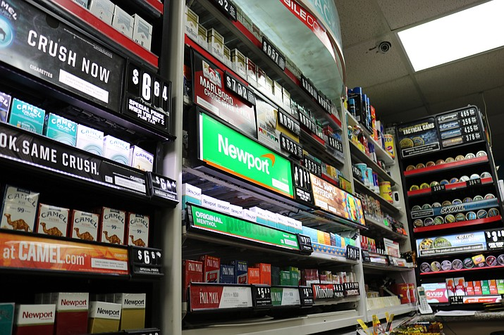 The Counter Strike Program through the Arizona Attorney General's Office works to ensure tobacco retailers follow the law and don't sell nicotine products to minors. (Travis Rains/Daily Miner)