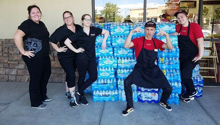Firehouse Subs donates water to first responders