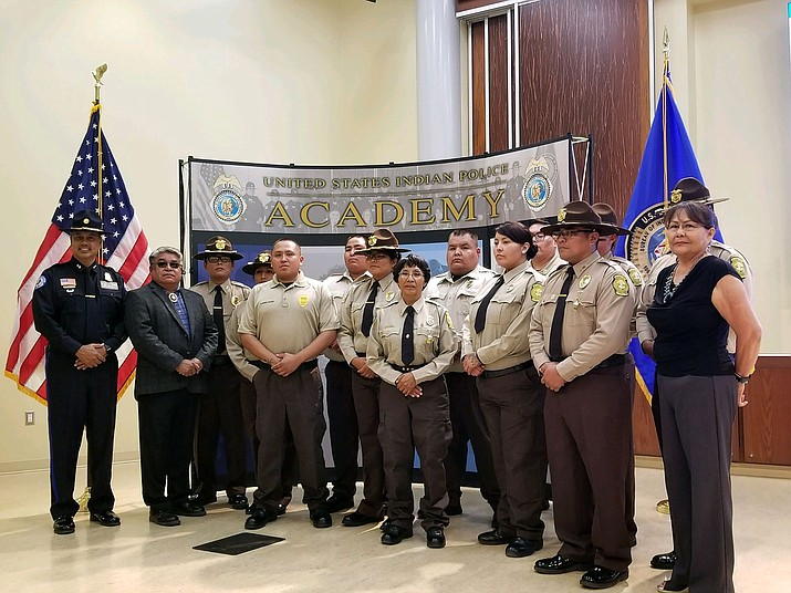 Recent graduates of the Indian Country Corrections Officer Training Program July 23. (Office of the President and Vice President)