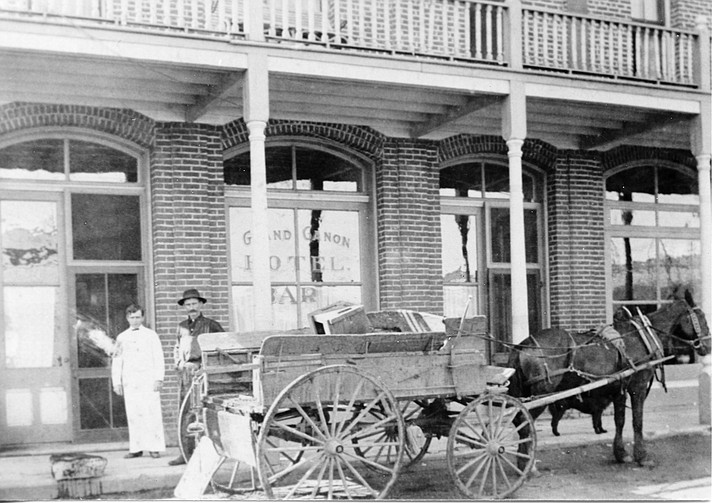 Jack Otter is photographed in front of the Grand Canyon Hotel in the early 1900s. (Williams Historic Photo Archives)