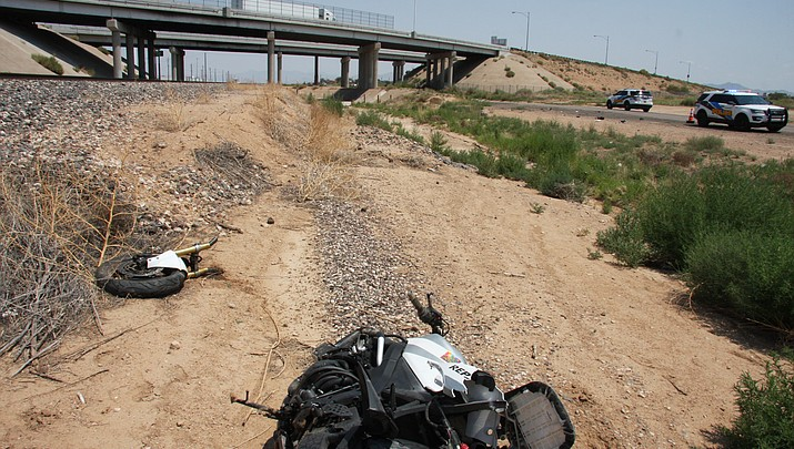 High rate of speed sends motorcyclist to Las Vegas hospital