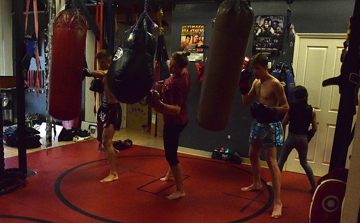 Fighters train at Larson's Boxing & Fitness in Camp Verde last month. VVN/James Kelley