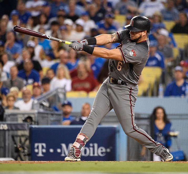 David Peralta hit a three-run homer, Clay Buchholz pitched a five-hitter, and the Arizona Diamondbacks beat the San Diego Padres 5-1 on Thursday night in the opener of a four-game series. (Kelsey Grant/Arizona Diamondbacks file photo)