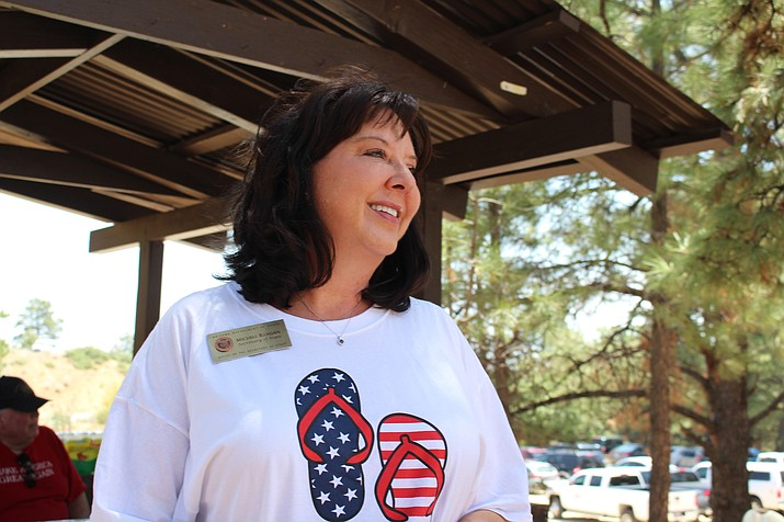 Arizona Secretary of State Michelle Reagan was at the Mohave County Republican Picnic in the Hualapai Mountains July 28. Reagan rejected the ACLU's voter registration request to automatically change voters' addresses when changed at the Motor Vehicle Department. (Photo by Vanessa Espinoza/Daily Miner)