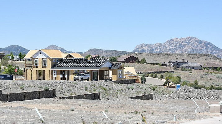 New homes under construction in the Astoria subdivisions in Prescott.   (Les Stukenberg/The Daily Courier)
