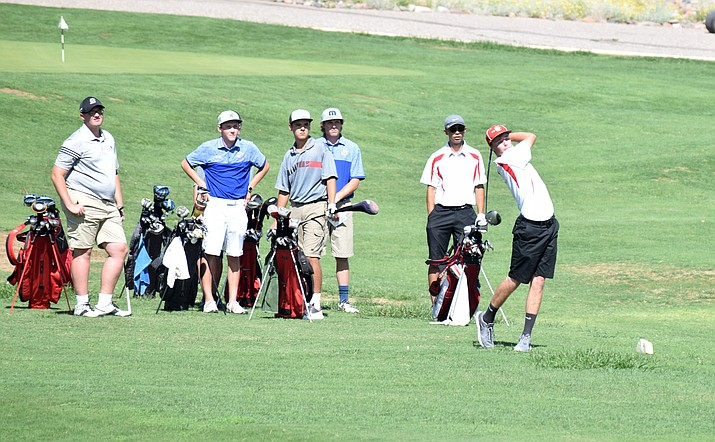 Mingus' Justin Tanner plays in a match last year. The Marauders open up the season on Tuesday at 2 p.m. at Verde Santa Fe against Bradshaw Mountain, Mohave and Page. VVN/James Kelley