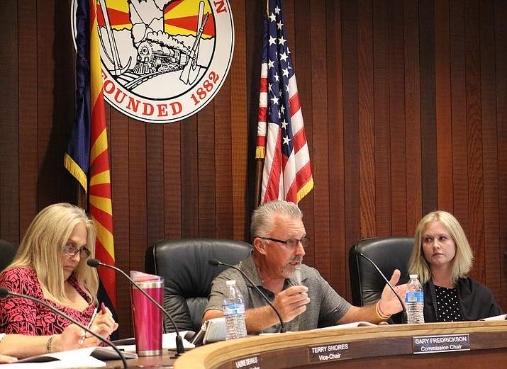 The Planning and Zoning Commission has yet to resolve the issue of cargo containers being used for storage in residentially-zoned districts, and is set to hold a work session on the issue. (Photo by Travis Rains/Daily Miner)