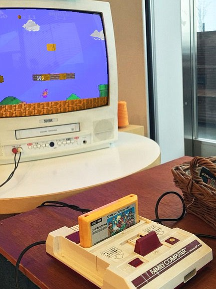 Super Mario Bros. on the Japanese Family Computer (Famicom). In North America it was released on the Nintendo Entertainment System. Super Mario Bros. was originally released in 1985 following the success to the 1983 arcade game Mario Bros. (Photo by monoprixgourmet  [CC BY 2.0  (https://creativecommons.org/licenses/by/2.0)], via Wikimedia Commons)