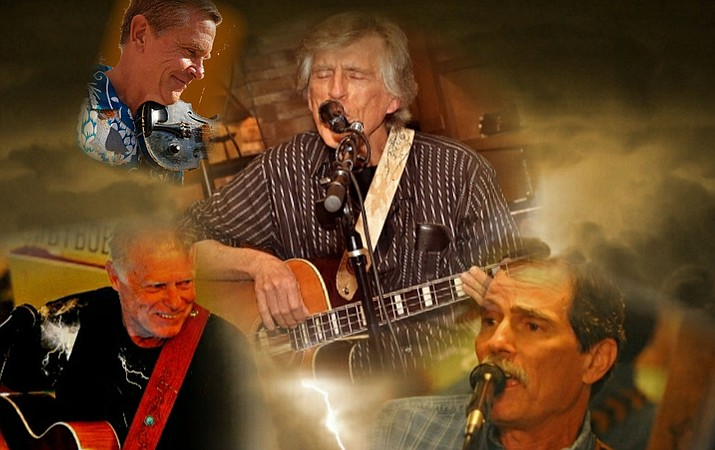 Saturday, August 25,  Thunder & Lightnin' strikes at The Grasshopper Grill. Just off a concert appearance at the Town Park in Clarkdale, this show now features Arizona fiddle icon Tony Cook.  Known for their fun-loving and grassy Roots-Americana bent, the band also reaches deep into less traditional genres for these instruments.