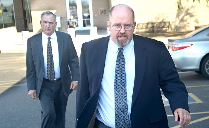 Thomas Chantry leaves the Yavapai County Courthouse after his verdict Tuesday. VVN/Vyto Starinskas