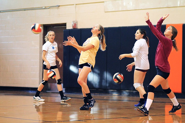 Williams volleyball players are focusing on defense and working on placing the ball well at the start of the season. (Wendy Howell/WGCN)