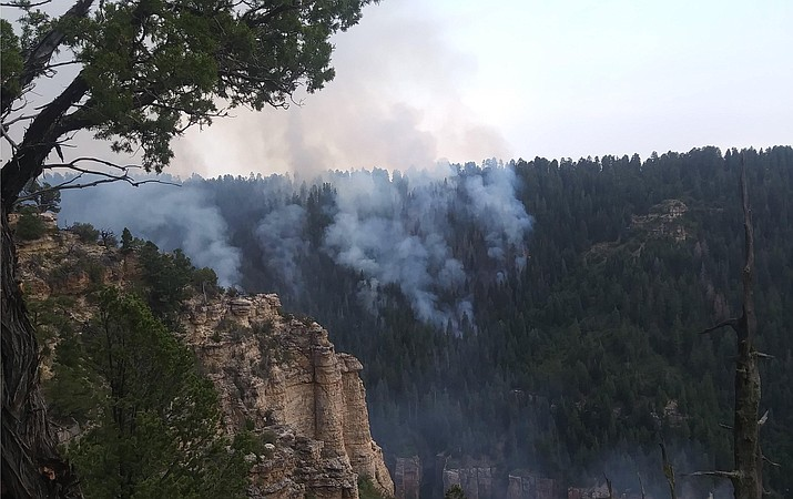 The Stina Fire has burned about 2,600 acres and is 20 percent contained. (Photo/Kaibab National Forest)