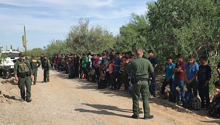 Border Patrol authorities say 128 immigrants believed abandoned by smugglers in a remote desert area at the Arizona border with Mexico are facing deportation.  (U.S. Customs and Border Protection)
