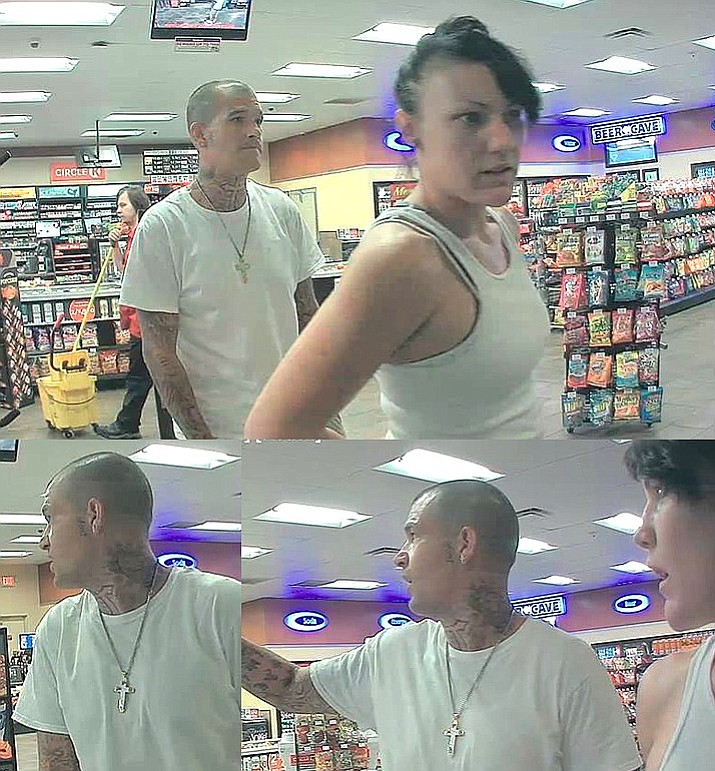 The Camp Verde Marshal's Office is seeking the public's help with identifying the two suspects in these surveillance photos. According to a CVMO Facebook page post, they are wanted in connection to a case involving stolen lottery tickets from the Camp Verde Circle K store, and are persons of interest in several other Circle K thefts that occurred throughout Yavapai County. (Camp Verde Marshal's Office)