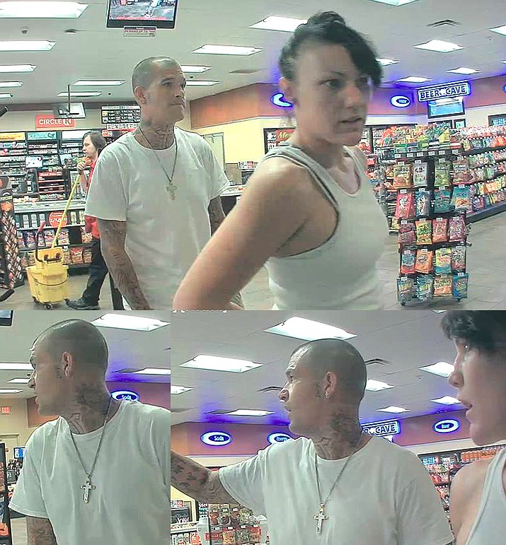 The Camp Verde Marshal's Office is seeking the public's help with identifying the two suspects in the pictures, according to the CVMO Facebook page.