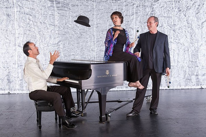 Composer Henry Flurry, right, his musician wife, Maria, center, and pianist James d'Leon will perform at 5 p.m. Sunday, Aug. 26, in the inaugural concert of the Arizona Philharmonic Orchestra at Yavapai College. (Marchetti Photography/Courtesy)