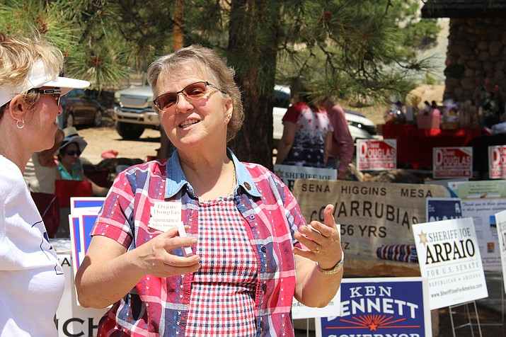 "Diane Douglas, Superintendent of Public Instruction attended the Mohave County Republican Party Picnic in July. Recently, an ""overzealous employee"" sent an internal email to all Arizona Department of Education employees that included a plea to vote for her, their current boss. (Daily Miner file photo)"