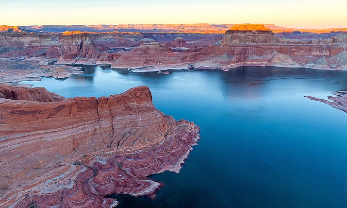 Lake Powell, which is upstream from Lake Mead, collected about 500,000 acre-feet less water than expected between April and July. That means Powell will be up to 5 feet lower than expected, with less water available to release into Lake Mead. (File photo by Joshua Bowling/Cronkite News)