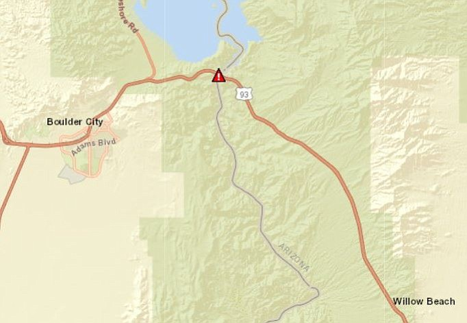 Police Activity On Us 93 Kingman Daily Miner Kingman Az - Us-93-arizona-map
