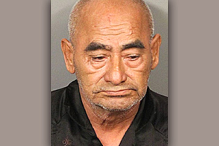 Riverside County sheriff's officials say 69-year-old Dionicio Fierros was arrested Friday and booked on a charge of theft of agricultural products. (Riverside County Sheriff's Office)
