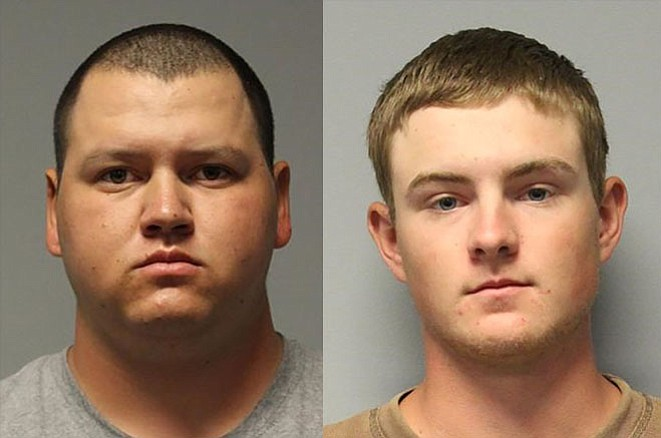 Kyle Abrigo and Nathan Chambliss have been arrested for allegedly abusing a calf.