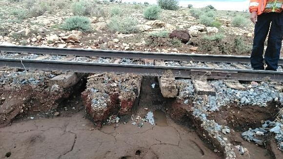 Grand Canyon Railway cancelled the passenger train to the Grand Canyon Aug. 22 after a portion of the tracks were washed out from flooding. (Grand Canyon Railway)