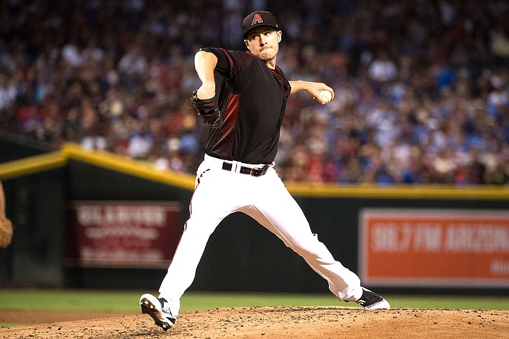 Corbin had nine strikeouts and one walk in seven innings while absorbing his first loss in six starts against the Giants this season. He gave up four hits. (Sarah Sachs/Arizona Diamondbacks file photo)