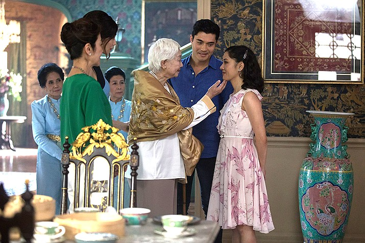 Crazy Rich Asians is a pleasant film that has some very nice features in it. The entire cast are Asian actors, the music background and for dancing is all western, familiar and modern. Most of the story takes place in Singapore and we get spectacular views of the structures that make Singapore unique in the modern architectural world