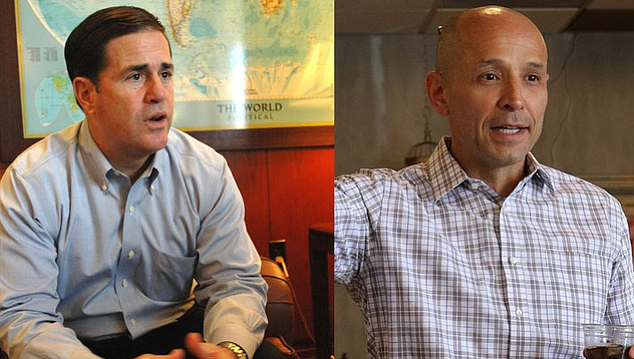 Incumbent Gov. Doug Ducey and David Garcia are on the ballot for Arizona Governor.