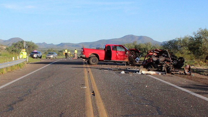 Faith Kalis, a 22-year-old Camp Verde mother, was pronounced dead at the scene after a multiple-vehicle collision along State Route 260 and Sierra Road Tuesday, Aug. 28, 2018. Her 2-year-old son was flown to Phoenix Children's Hospital and is being treated for life-threatening injuries. (Camp Verde Marshal's Office)