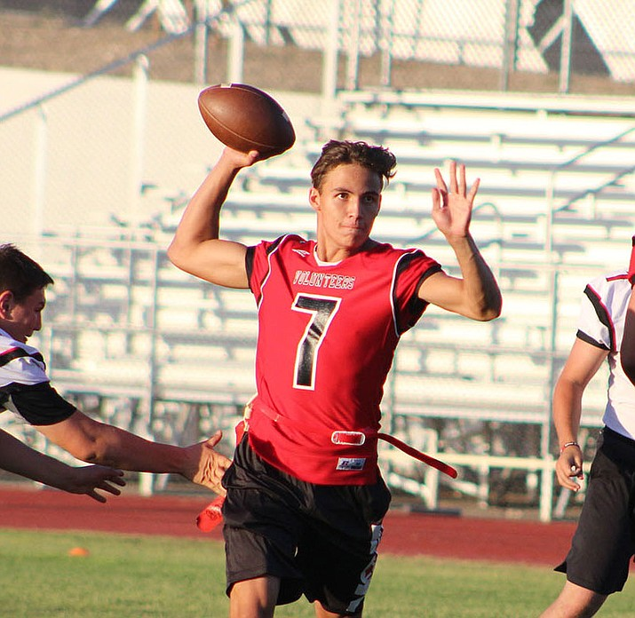 Enzo Marino has excelled in his role as Lee Williams' starting quarterback. The Vols look for their first win tonight at home against River Valley. (Miner file photo)
