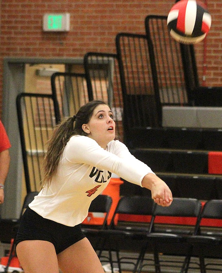 Lee Williams' Lorelei Fernandez tallied three kills and two digs Thursday in a victory over River Valley. (Photo by Beau Bearden/Daily Miner)