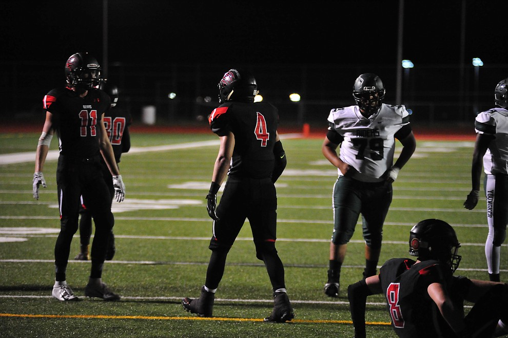 Bradshaw Mountain's XXXX as the Bears take on the Youngker Roughriders in their home opener Friday, August 31, 2018 in Prescott Valley. (Les Stukenberg/Courier)