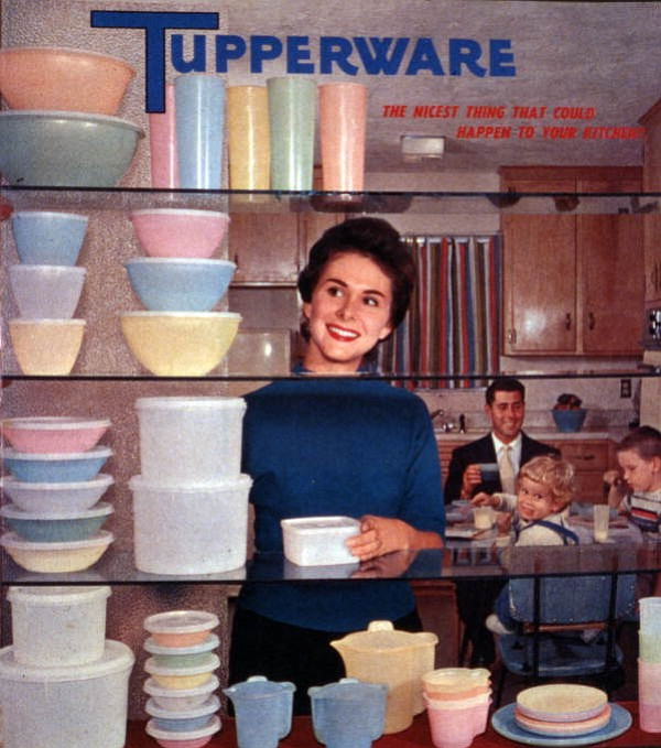A Tupperware advertisement from around 1958. (State Library and Archives of Florida)
