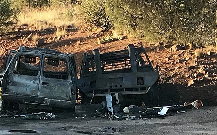 The Labor Day weekend got off to rough start when three people were killed in a crash on Highway 89 between Ash Fork and Chino Valley Thursday. (Courtesy CAFMA)