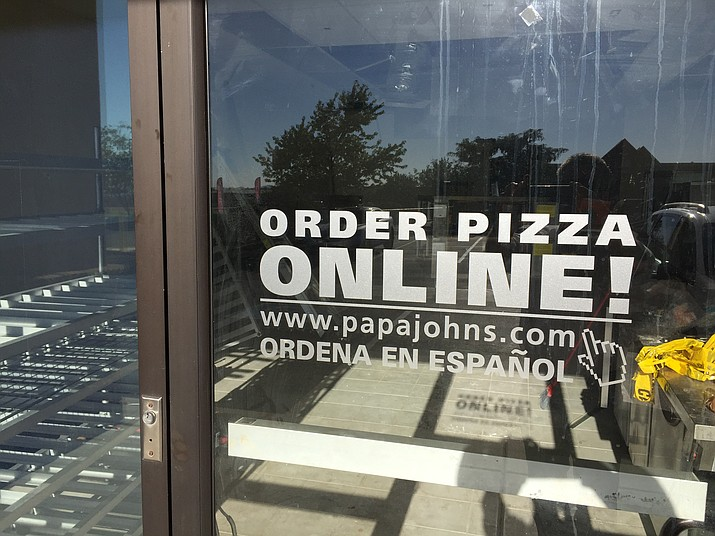 The former Prescott Valley Papa John's store, near  the old Kmart building, may not remain closed much longer. (George Lurie/Courier)