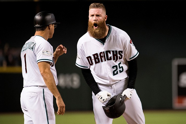 Arizona Diamondbacks pitcher Archie Bradley gave up a three-run home run to Los Angeles Dodgers' Matt Kemp in the eighth inning to lift the Dodgers to a 3-2 victory Saturday, Sept. 1, 2018, in Los Angeles. (Sarah Sachs/Arizona Diamondbacks file photo)
