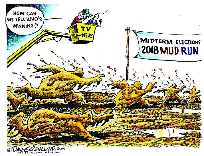 Editorial cartoon (1): Sept. 4, 2018