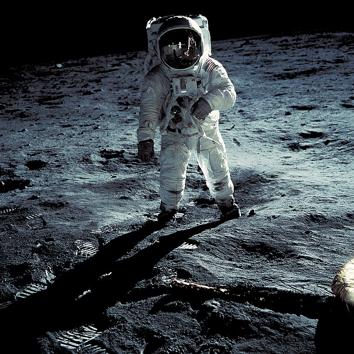 Buzz Aldrin walks on the moon during the 1969 Apollo 11 mission. (NASA/Courtesy)