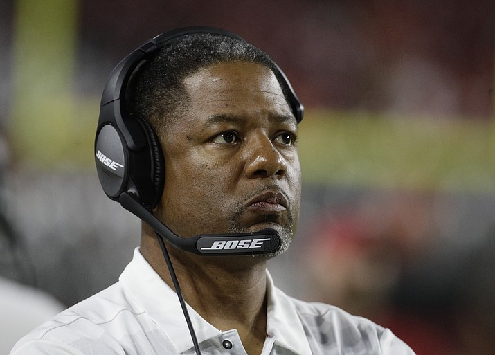 Arizona Cardinals head coach Steve Wilks during the first half of a preseason NFL football game against the Denver Broncos, Thursday, Aug. 30, 2018, in Glendale. (Rick Scuteri/AP)