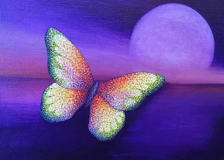 """Blue Moon,"" acrylic on Canvas by Sherab Khandro"
