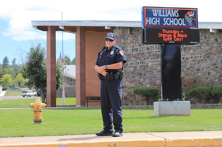 Dwaine Simpson is the new student resource officer at Williams Unified School District. The position is funded by the school district and Williams Police Department.   (Wendy Howell/WGCN)