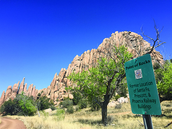 The initial application submitted by Arizona Eco Development for annexation of Granite Dells-area land into Prescott city limits was rejected earlier this year. The land under consideration for development includes the iconic Point of Rocks along Prescott's Peavine Trail. (Cindy Barks/Courier file)