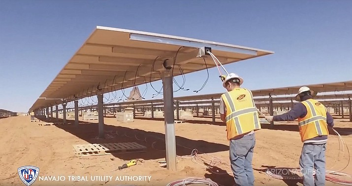 The Kayenta Solar Project created as many as 284 jobs construction jobs while it was being built, in an area with chronically high unemployment. It opened last year and celebrated a groundbreaking Aug. 23 of a second phase and the expanded Kayenta Solar Facility II. (Photo/Navajo Tribal Utility Authority)