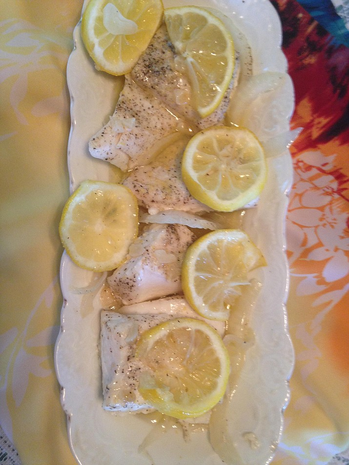 Garlic Butter Baked Halibut. (Diane DeHamer/Courtesy)