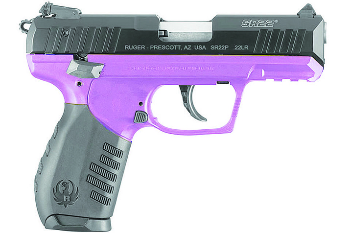 A Ruger SR22P handgun is shown above. (Courtesy)