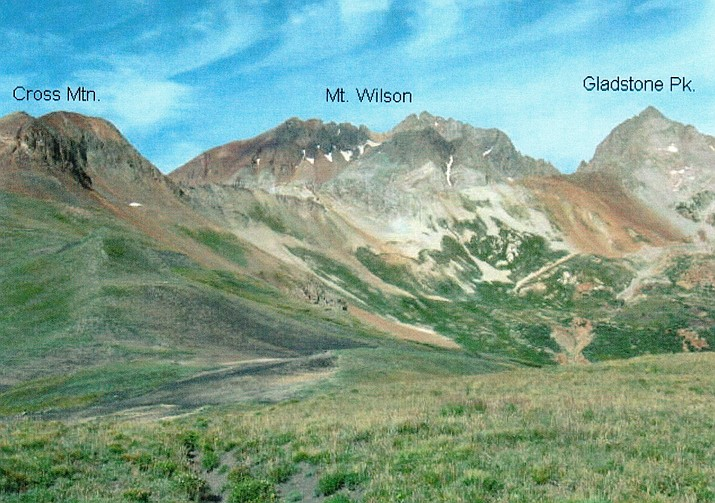 This illustration shows Cross Moutain, Mount Wilson and Gladstone Peak. (Courtesy)