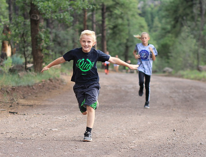The Williams Elementary-Middle School Falcons cross-country team is in their third week of the season. The group recently ran from Clover Ranger Station to Buckskinner Park and back to the school.
