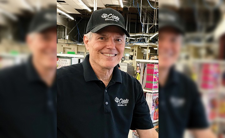 Villager resident Jeff Magus, a six-year employee of Weber's IGA, is now dealing with remodeling construction but looks forward to working in a beautiful new Clark's Market. Villager photo by Gail Simpson