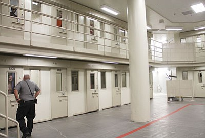 More than 400 inmates were searched using the body scanner during the weekend's lockdown at the Mohave County jail. Inmates' movements were suspended, and they were restricted to their cells while the search took place. (Daily Miner file photo)